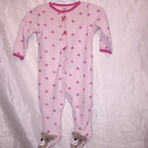 Carter's CUTE bear polka dot sleeper! Sz 6mos 💕
